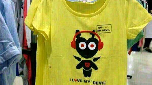 Shirt mit Teufel.