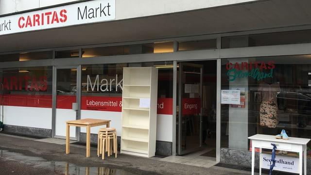 Aussenansicht des Caritas-Markts in Baden