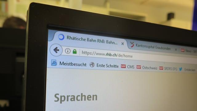 Homepage der Rhätischen Bahn