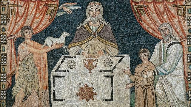 Mosaik von Opferung