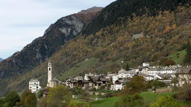 Vista sin Soglio en val Bergaglia.