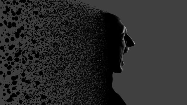 Grafik: zerspringender Kopf dargestellt
