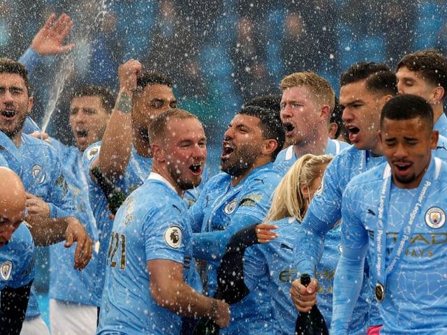 Die Spieler von Manchester City.