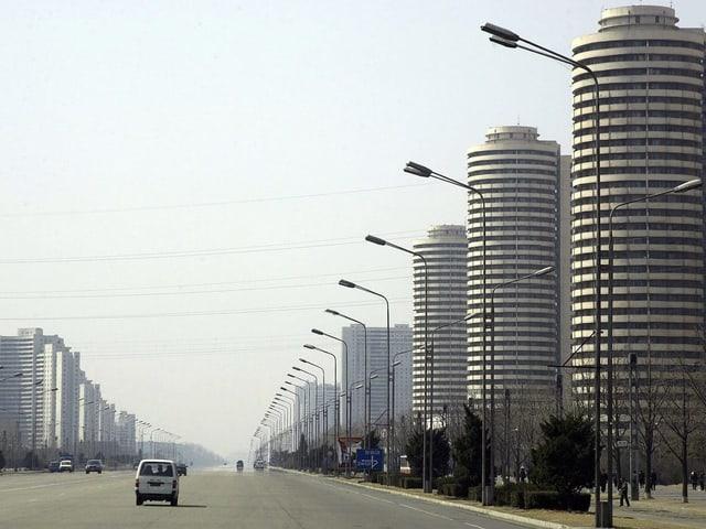 «Prachtstrasse» in der Hauptstadt Pjöngjang.