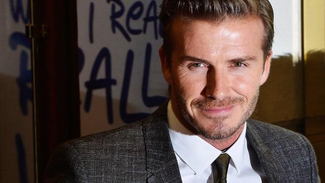 David Beckham lächelt in die Kamera