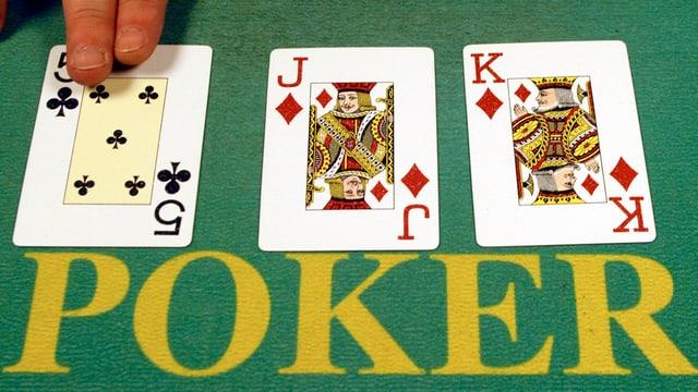 Cartas per giugar poker.