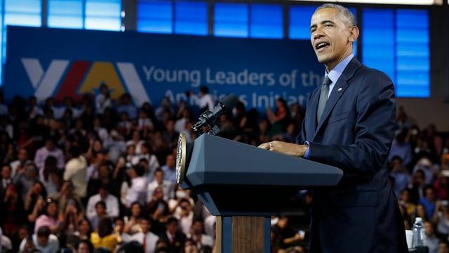 Barack Obama bei einer Rede.