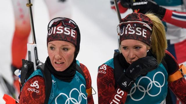 Elisa Gasparin a dretga e Selina Gasparin a sanestra.