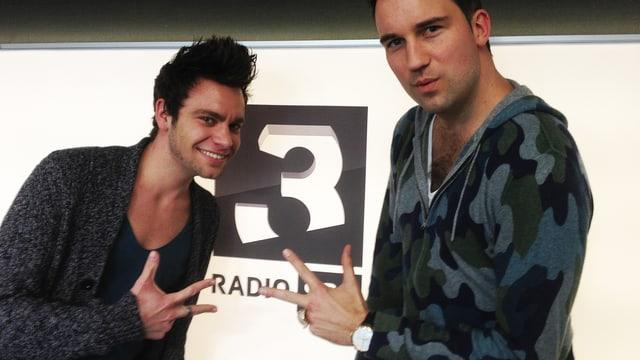 Hitparaden-Moderator Michel Birri und DJ Antoine.