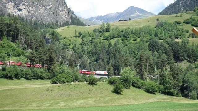 La nua ch'igl è da vesair la locomotiva, pudessi dar ina staziun cun ina plattafurma panoramica.