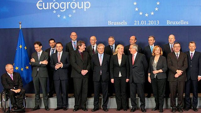 Gruppenfoto der Finanzminister.