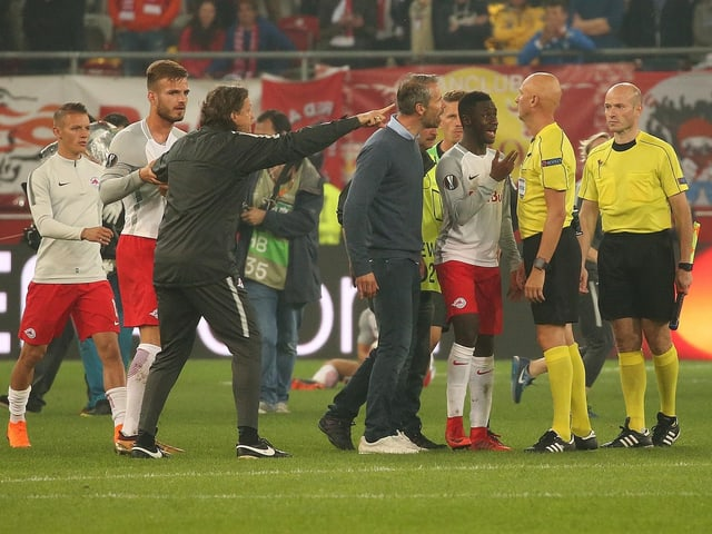 Die Salzburg-Spieler.