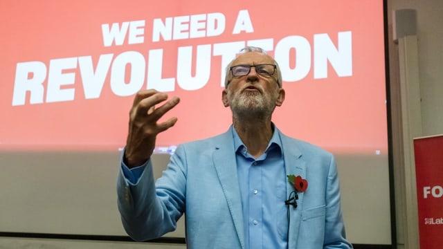 Jeremy Corbyn bei einer Rede.