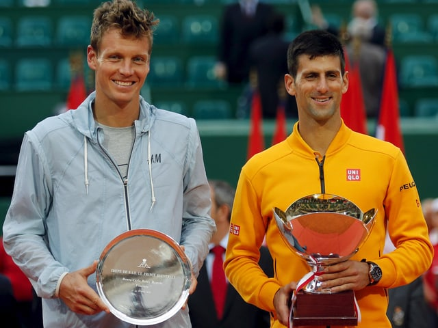 Tomas Berdych und Novak Djokovic.