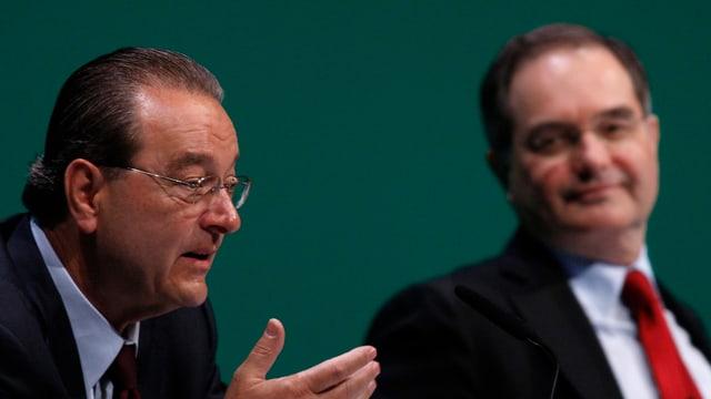Oswald Grübel und Peter Kurer. (reuters/archiv)