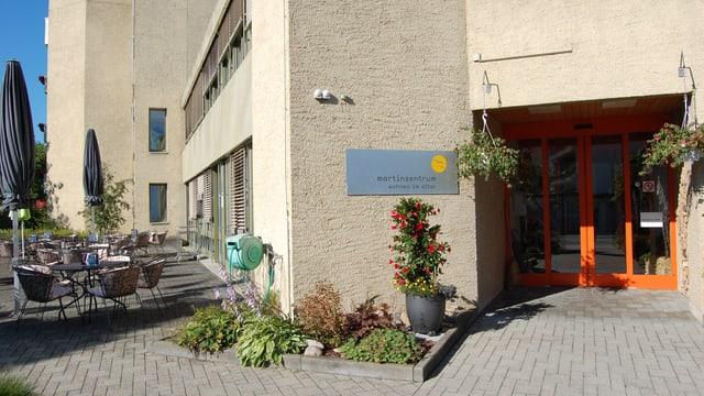 Eingang zum Altersheim Martinzentrum in Thun