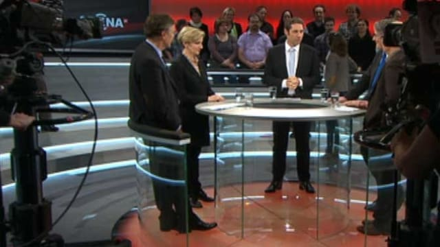 Diskussionsrunde in der «Arena»