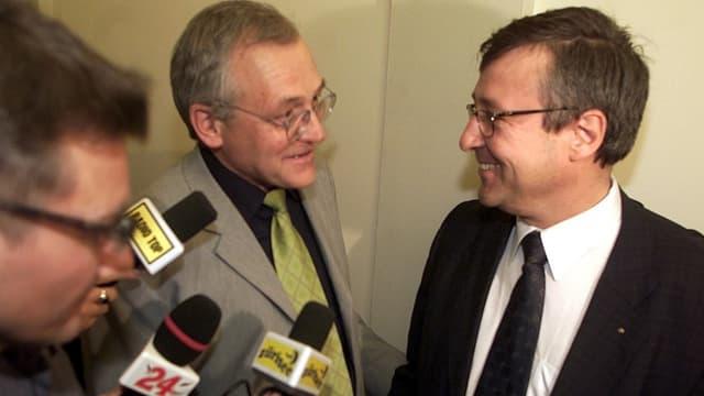 2002 wurde Andres Türler im zweiten Wahlgang gewählt. Der damalige Stadtpräsident Elmar Ledergerber gratulierte ihm.