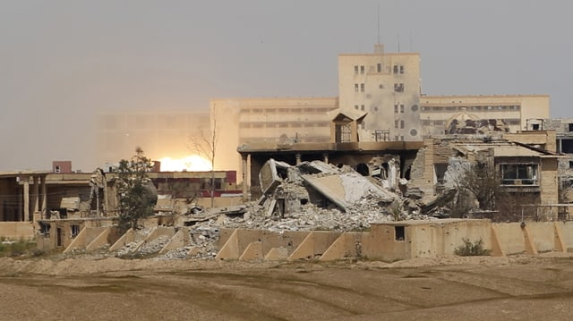 In bajetg destruì en Siria.