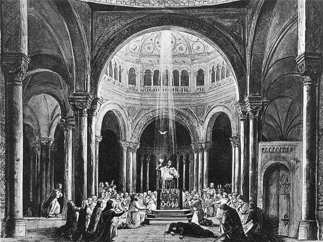 Bühnenbild von Parsifal.
