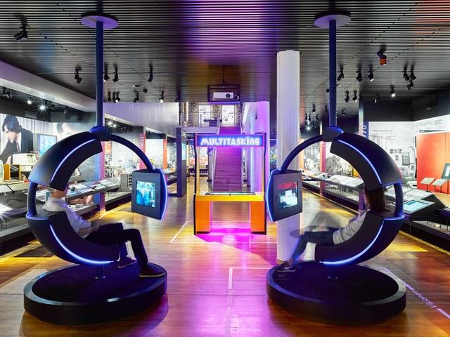 Austellungsraum im Museum für Kommunikation