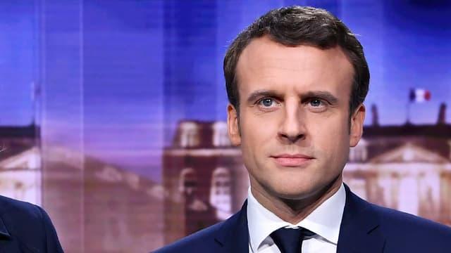 Purtret da Macron durant la debatta da televisiun.