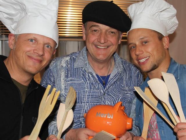René Alfeld, Herbi Geisser und Jan Fitze.