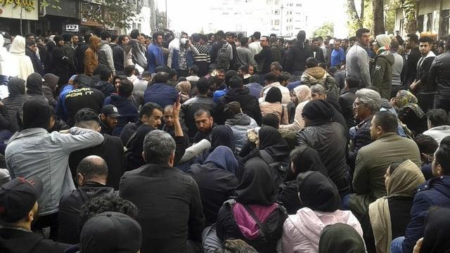 Demonstranten.