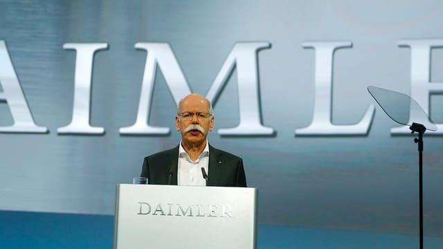 Daimler-Konzernchef Zetsche spricht zu Aktionären