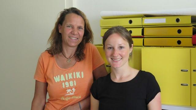 Ina Gartmann, Leiterin der Regionalstelle Bolligen und Tanja Schütz, Asylkoordinatorin Regionalstelle Burgdorf.