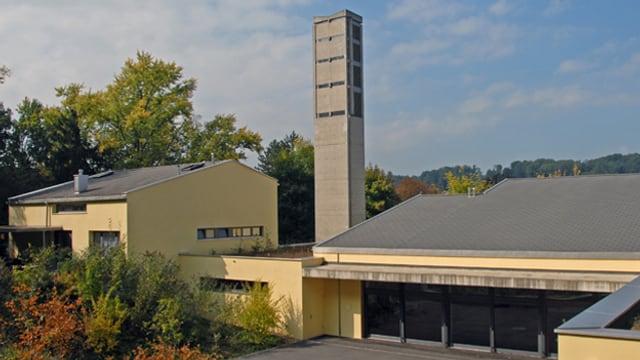 Reformierte Kirche Bottmingen mit Pfarrhaus, Haupteingang
