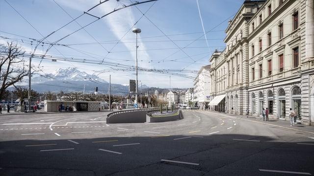 Visualisierung der Einfahrt eines Parkhauses beim Schweizerhofquai.