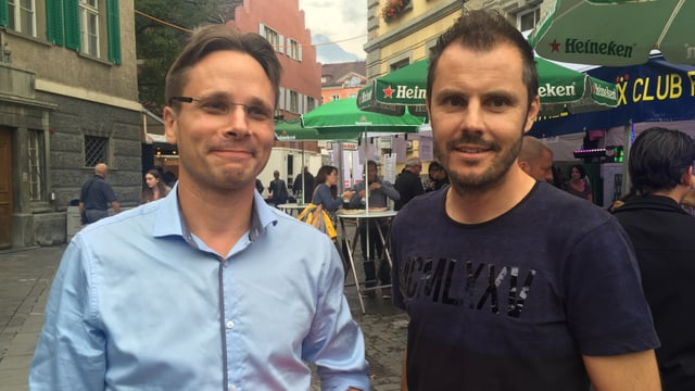 Claudio Tschuor ed Iso Huonder.