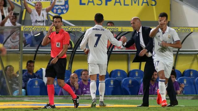 Ronaldo bei seiner Auswechslung.