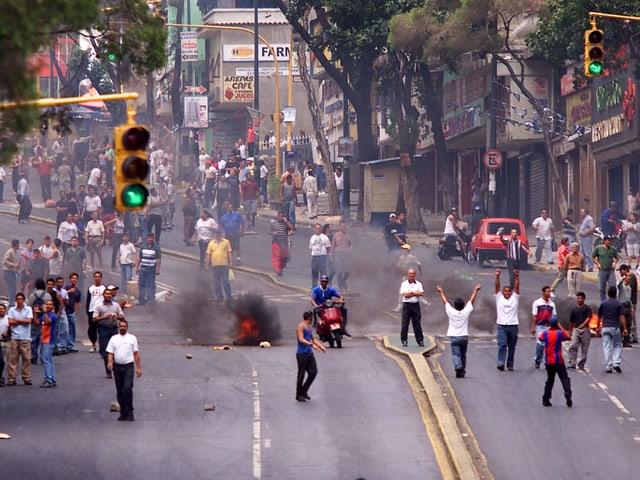 Strassenschlacht in Caracas