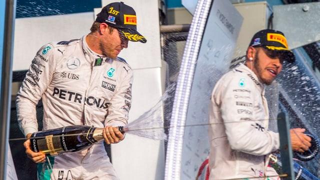 Pon festivar in perfetg start en la nova stagiun: Nico Rosberg (san.) gudogna avant Lewis Hamilton in GP da l'Australia.