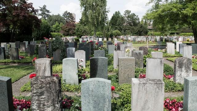 Totale auf Friedhof Sihlfeld in Zürich.