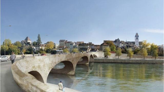 Visualisierung Sanierung Kettenbrücke