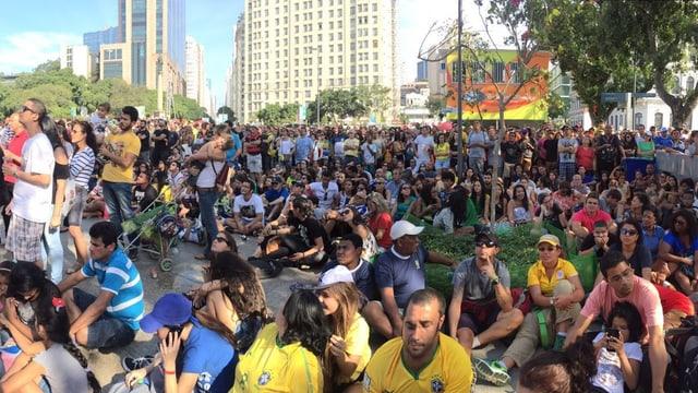 Die brasilianischen Fans.
