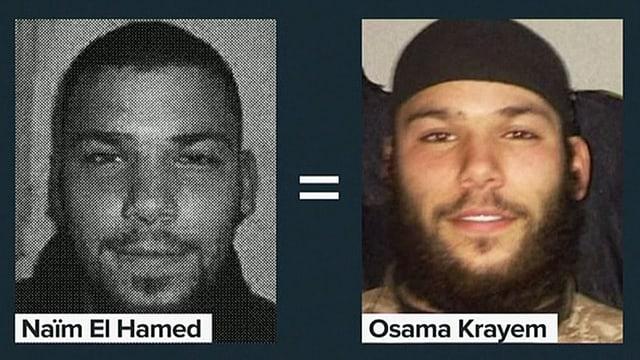Zwei Porträts des gleichen Mannes.
