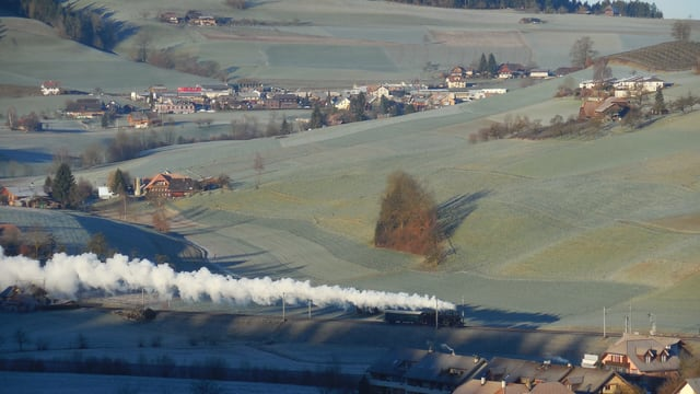 Am 10. Januar war es rund um Zäziwil noch völlig grün.