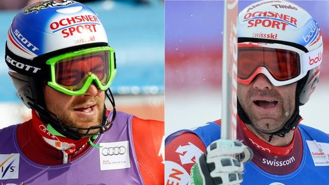 Sowohl Vogel (links) wie auch Défago haben das Ticket für den Weltcup-Final noch nicht in der Tasche.