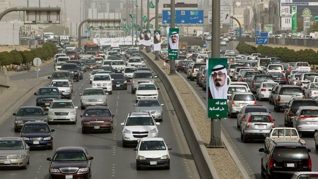 Autos in der saudischen Hauptstadt Riad.