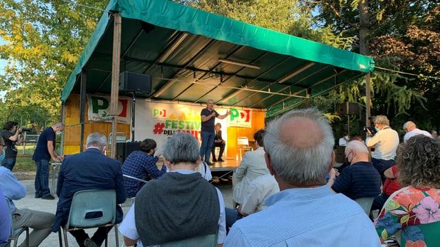 Wahlkampfveranstaltung in Florenz.