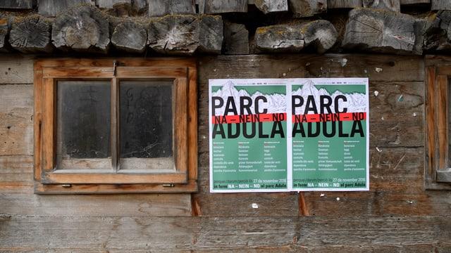 Plakat an Stallwand