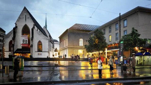Mit dem Umbau rückt das Stadtcasino näher an die Barfüsserkirche.