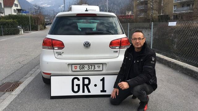 Andrea Nussio ed la plachetta «Gr1».