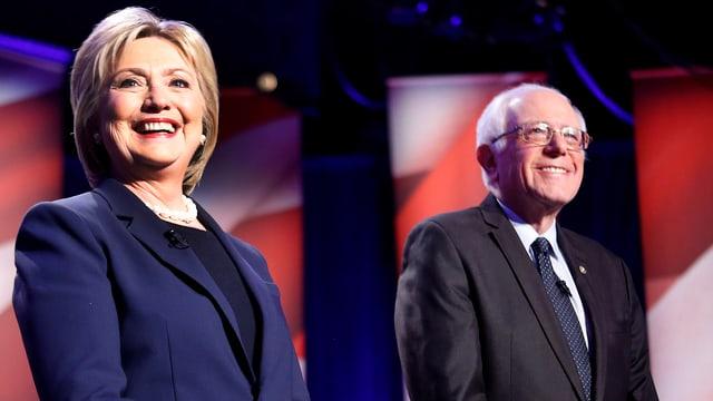 Clinton steht neben Sanders im Rampenlicht.