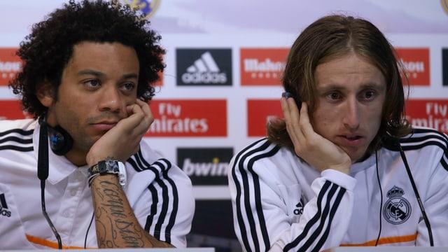 Marcelo und Luka Modric schauen resigniert.