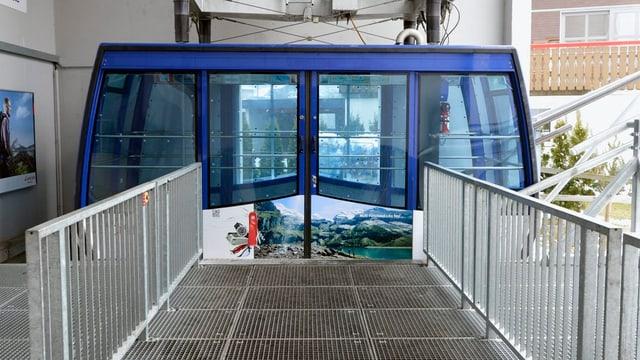 Die Luftseilbahn in Lungern mit geschlossenen Türen
